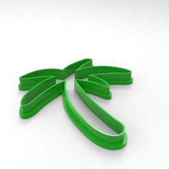 Download 3D printer designs Cookie Cutter Palm Tree, 3DLuxe
