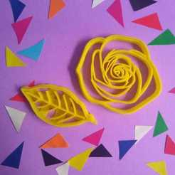 WhatsApp Image 2019-06-13 at 08.53.18 (1).jpeg Download STL file Flower + leaf cookie cutter • Object to 3D print, 3DLuxe