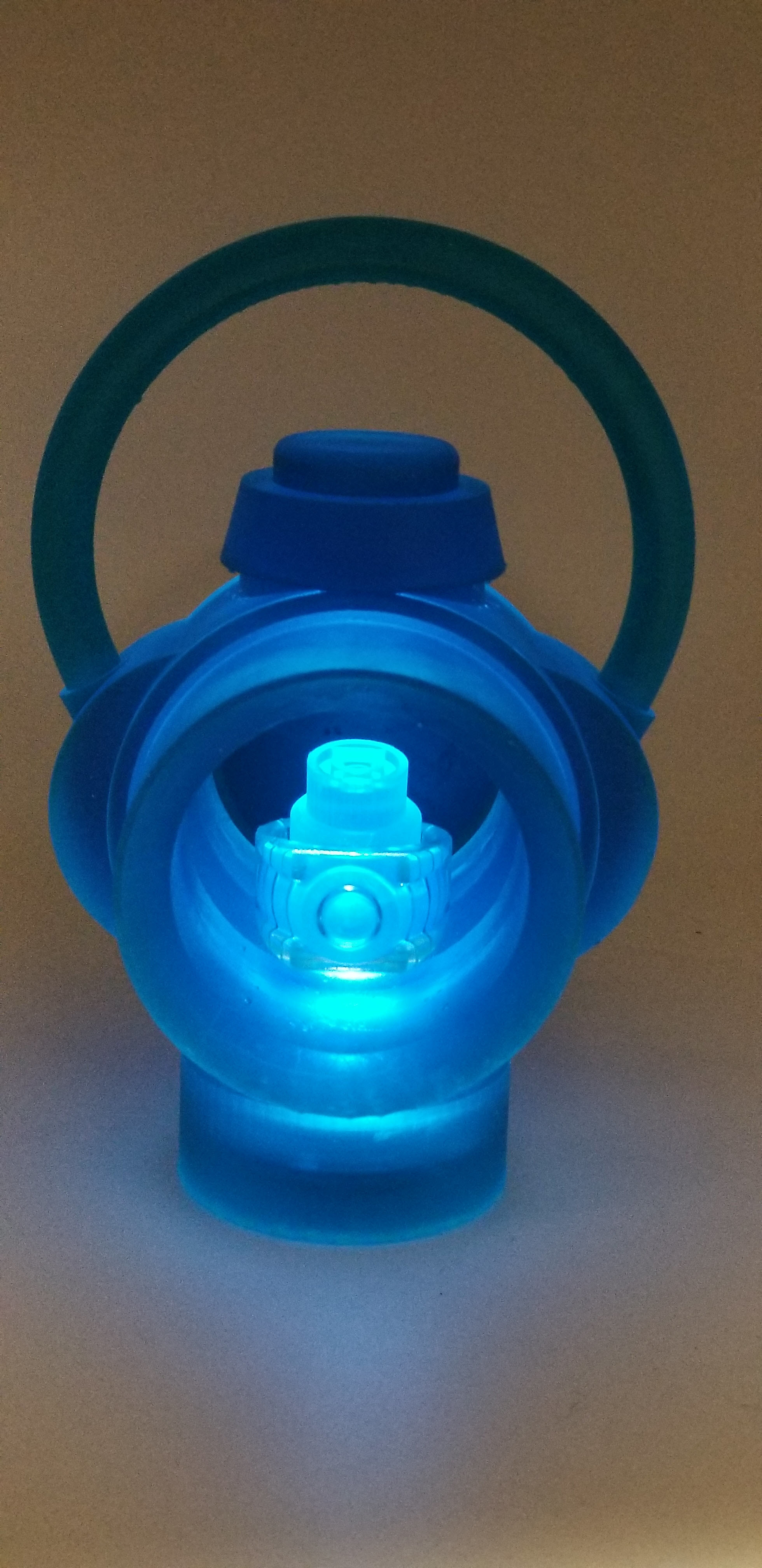 Lantern_lit_blue_resin.jpg Download free STL file Green Lantern Ring Holder • 3D printable model, Roman_Martinez