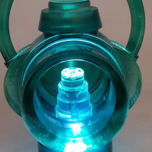 Finished_Lit_Lantern.jpg Download free STL file Green Lantern Ring Holder • 3D printable model, Roman_Martinez