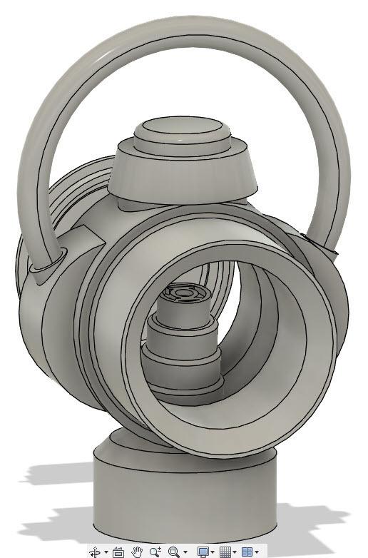 Fusion_lantern_front.jpg Download free STL file Green Lantern Ring Holder • 3D printable model, Roman_Martinez