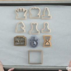 Impresiones 3D Formularios para galletas y ajedrez de jengibre (SET 10), dmitriysk3d