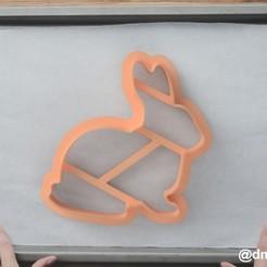 Rabbit.jpg Télécharger fichier STL gratuit Formulaire pour les biscuits et le lapin en pain d'épices • Plan imprimable en 3D, dmitriysk3d