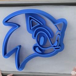 Соник.jpg Download STL file Form for cookies and gingerbread Sonic X • 3D printer model, dmitriysk3d