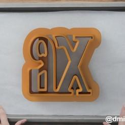 Letters XB.jpg Télécharger fichier STL Formulaire pour les biscuits et le pain d'épices les Lettres XB • Design pour impression 3D, dmitriysk3d