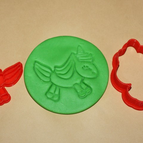 UNICORN.jpg Download STL file UNICORN - COOKIE CUTTER • 3D printer object, dmitriysk3d