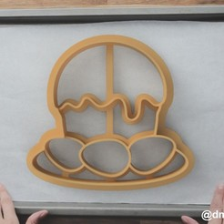 Download 3D print files Form for cookies and gingerbread Easter cake and eggs, dmitriysk3d