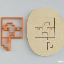 Alex's Head_1.jpg Download STL file Forms for cookies and gingerbread Alex's head Minecraft (one) • 3D printable object, dmitriysk3d