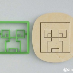 Download 3D printer designs Forms for cookies and gingerbread Creeper Minecraft  , dmitriysk3d