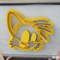 Тейлз.jpg Download STL file Form for cookies and gingerbread Tails (sonic X) • 3D print object, dmitriysk3d