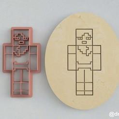 Alex_1.jpg Télécharger fichier STL Formulaires pour les biscuits et le pain d'épices Alex Minecraft • Plan pour imprimante 3D, dmitriysk3d