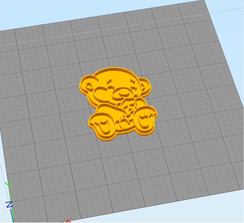 3.3.png Download STL file Bear with a small bear - COOKIE CUTTER • 3D printable design, dmitriysk3d