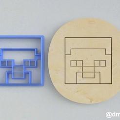 Steve's Head_2.jpg Télécharger fichier STL Formulaires pour les biscuits et le pain d'épice Steve's head Minecraft • Objet à imprimer en 3D, dmitriysk3d