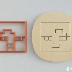 Alex's head_2.1.jpg Télécharger fichier STL Formulaires pour les biscuits et le pain d'épices La tête d'Alex Minecraft (deux) • Modèle imprimable en 3D, dmitriysk3d