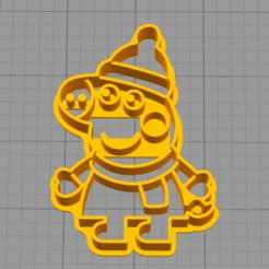 3D printer files Peppa pig  - COOKIE CUTTER, peterburganes