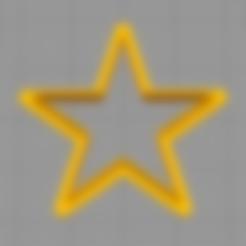STL files Star  - COOKIE CUTTER, peterburganes
