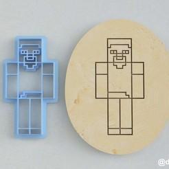 Steve_2.jpg Télécharger fichier STL Formulaires pour les biscuits et le pain d'épices Steve Minecraft • Design imprimable en 3D, dmitriysk3d