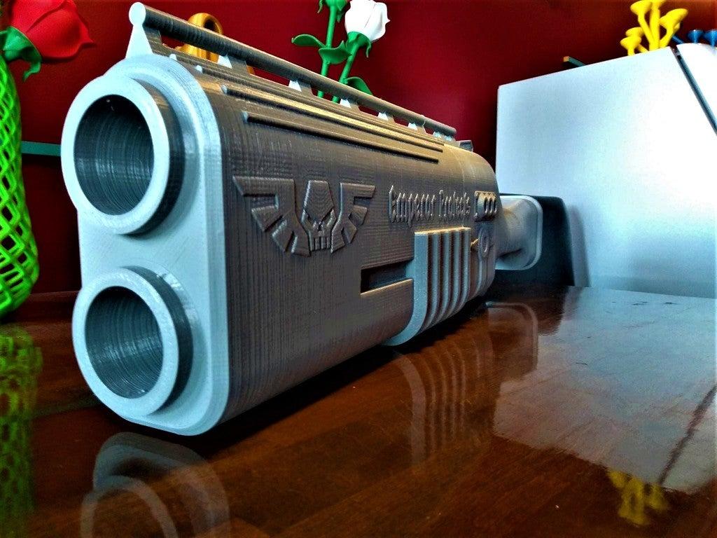 032b2cc936860b03048302d991c3498f_display_large.jpg Télécharger fichier STL gratuit Fusil de chasse Warhammer 40k arbites • Modèle pour impression 3D, Lance_Greene