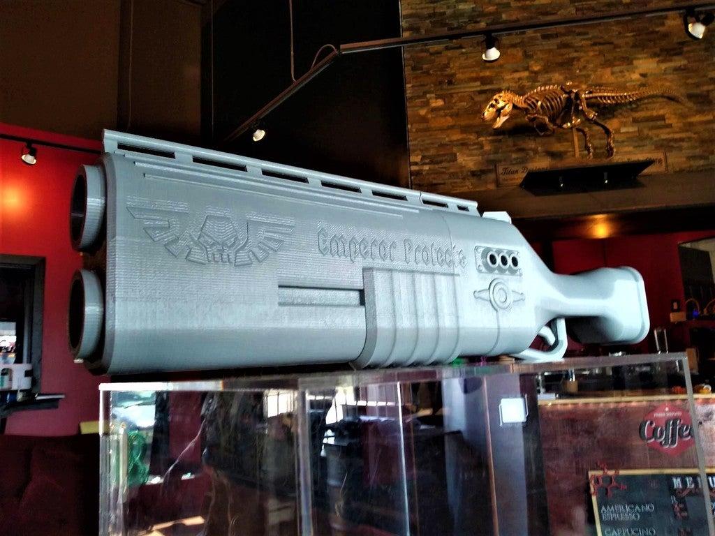 f3ccdd27d2000e3f9255a7e3e2c48800_display_large.jpg Télécharger fichier STL gratuit Fusil de chasse Warhammer 40k arbites • Modèle pour impression 3D, Lance_Greene