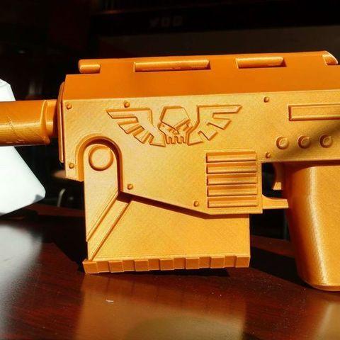 Download free 3D print files warhammer 40k Las Pistol, Lance_Greene