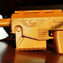 Download free 3D print files warhammer 40k Las Pistol, Lance_Greene
