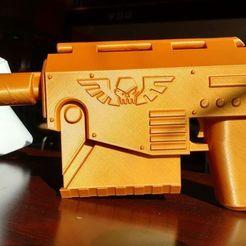 Télécharger plan imprimante 3D gatuit marteau de guerre 40k Las Pistol, Lance_Greene