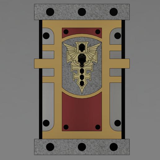 shield_1.PNG Télécharger fichier STL gratuit Bouclier de puissance Warhammer • Objet pour imprimante 3D, Lance_Greene