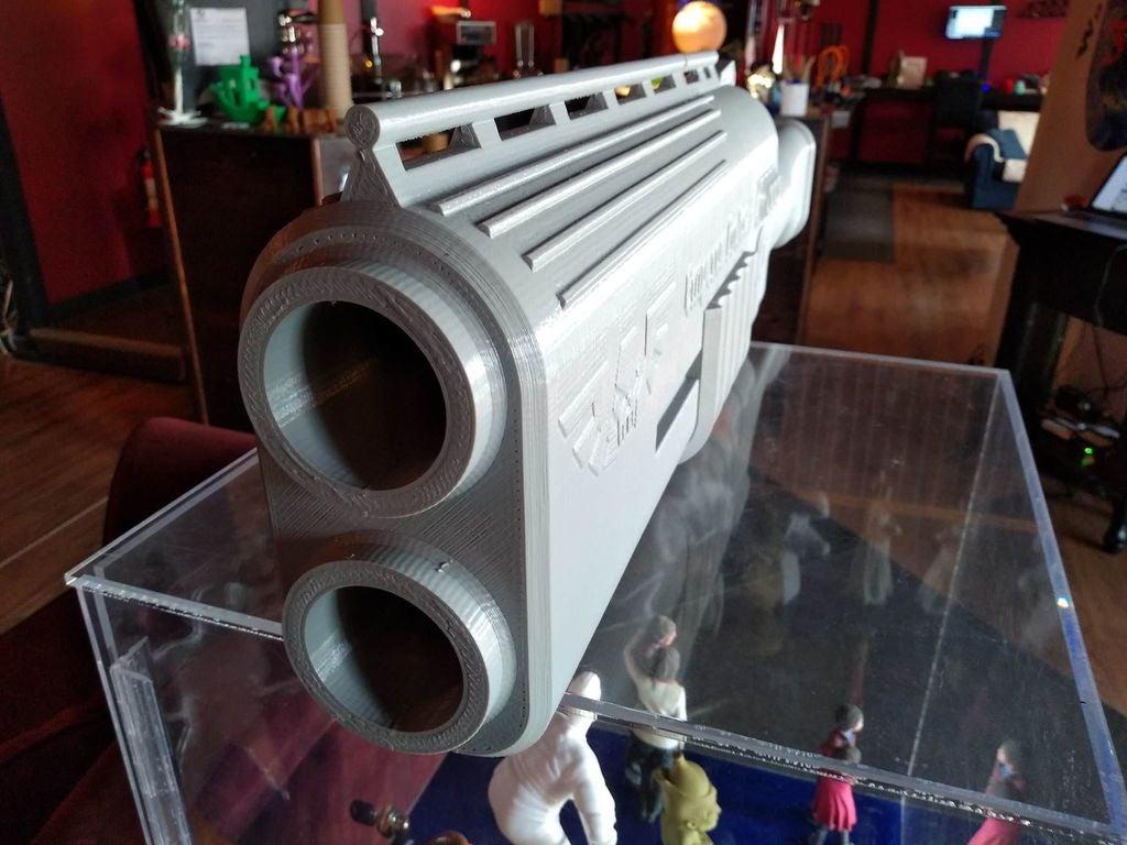 fe5df232cafa4c4e0f1a0294418e5660_display_large.jpg Télécharger fichier STL gratuit Fusil de chasse Warhammer 40k arbites • Modèle pour impression 3D, Lance_Greene