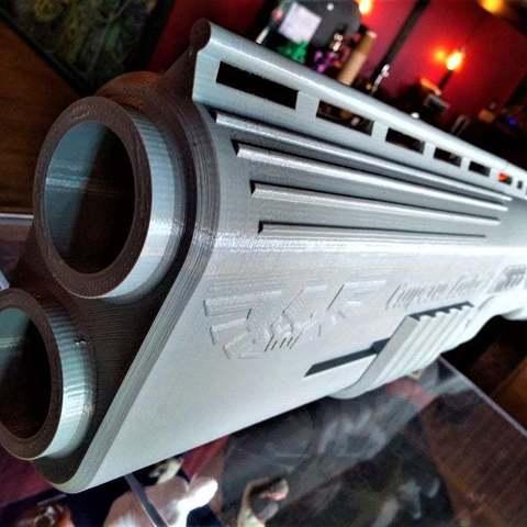 18e2999891374a475d0687ca9f989d83_display_large.jpg Télécharger fichier STL gratuit Fusil de chasse Warhammer 40k arbites • Modèle pour impression 3D, Lance_Greene