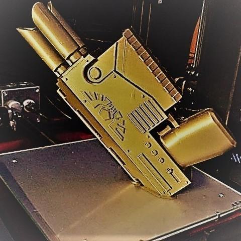 8d011b52a76a698fa4395d0b7b57012c_display_large.jpg Download free STL file Warhammer laspistol • 3D printer template, Lance_Greene