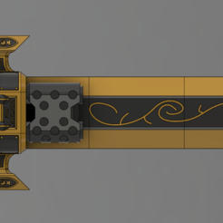 rr.PNG Download free STL file Wahammer 40k Custodes flame sword • 3D printer template, Lance_Greene