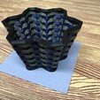 Download free 3D printer templates Sine Wave Woven Basket, PatternToPrint