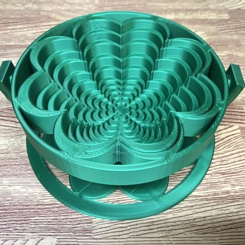 Download free 3D printer templates Clover Pop Up Basket, PatternToPrint