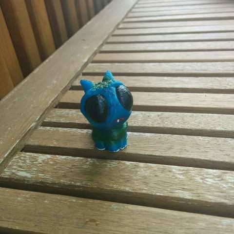 Impresiones 3D pequeño azul, danbatec