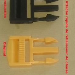 Download 3D printer model quick fastener for baby sun chair riser, lt3d31