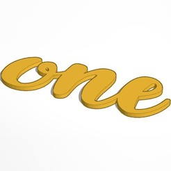 Cake_Topper_One.jpg Download free STL file Cake Topper One (Baby) • 3D print object, 3Dgardo
