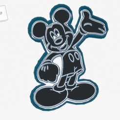 Download 3D printing templates Mickey Mouse Cookie Cutter, tecnoadvance