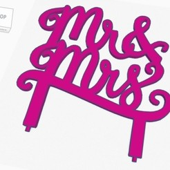 Descargar archivo 3D gratis Cake Topper Mr & Mrs, tecnoadvance