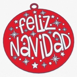 feliz-navidad-1.jpg Download STL file BOLA FELÍZ NAVIDAD (CHRISTMAS BALL) • 3D printable design, 3Dgardo