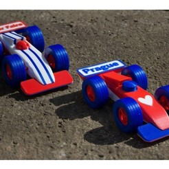 Free stl files Double-sided formula 1 Maker Faire Prague, mikimaus-cz