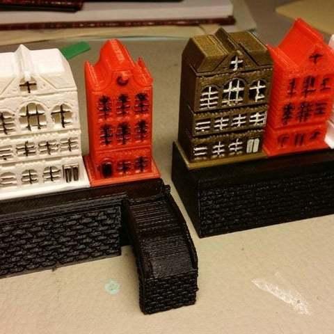 Download free 3D printer designs Bridge for Amsterdam Houses, cipperki