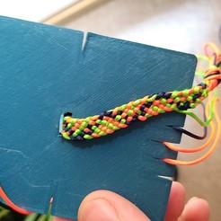 20200821_183210.jpg Télécharger fichier STL gratuit Métier à tisser pour les bracelets • Plan pour imprimante 3D, Cipper
