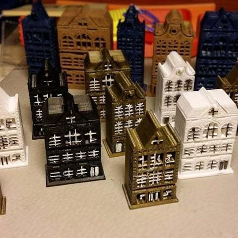 Download free STL Amsterdam buildings, cipperki