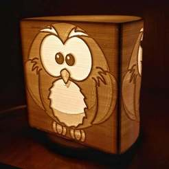 Download free 3D printing templates Lamp OWL, Cipper
