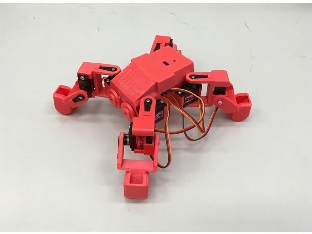 812a9d19a9898bb75aee0fe0a6359c59_preview_featured.JPG Download free STL file Ez Arduino MiniKame Mk2 - 8 DOF Quadruped Robot • 3D printing object, manic-3d-print