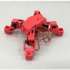 Download free 3D printer designs Ez Arduino MiniKame Mk2 - 8 DOF Quadruped Robot, manic-3d-print