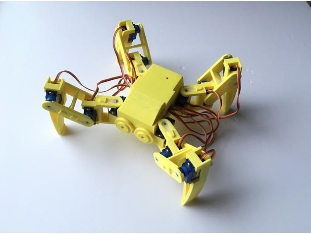541b0dd21c9c0c8f05cf5ce090044072_preview_featured.jpg Download free STL file Ez Arduino Spidey - 12 DOF Quadruped Robot • 3D printing object, manic-3d-print