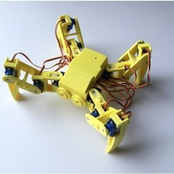 Free 3D printer designs Ez Arduino Spidey - 12 DOF Quadruped Robot, manic-3d-print