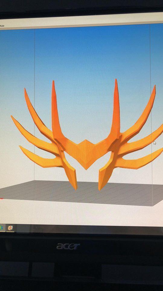 40545254_2243856555845103_7380362941205315584_n.jpg Download STL file saint seiya helmet cancer • 3D printing object, darkangel