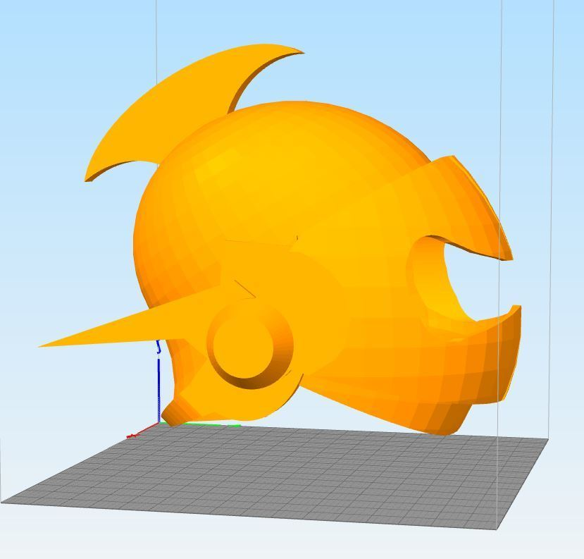 Captur6324e.JPG Download STL file actarus 3d goldorak helmet • 3D printing template, darkangel